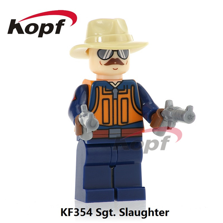 20Pcs KF354 Super Heroes Gi Joe Series Sgt. Slaughter Power Girl Snake Eyes Mumm-Ra Building Blocks Toys Model For Children Gift