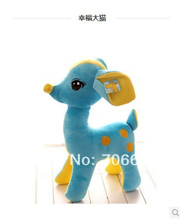 about 50cm blue lifelike sika deer  plush toy doll quality goods gift  t5634