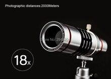 Telefoto lente w/tripé para o telefone móvel universal 18x zoom telescópio lente da câmera para o iphone zoom lupa lente óptica 18x