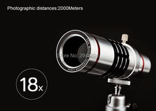Buy online Telephoto Lens w/ Tripod  for Mobile Phone Universal 18X Zoom Telescope Camera Lens for iPhone Zoom Magnifier Optical Lens 18x