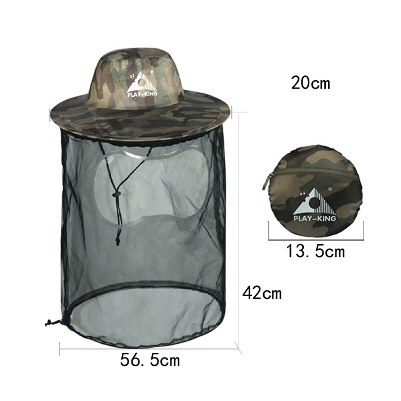Camouflage Hat Bee Keeping Insects Mosquito Net Protection Hat Uv Protection Fisherman Beekeeper Fishing Hat