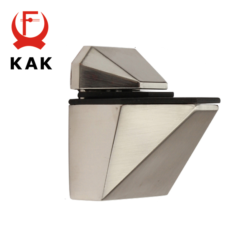 Image 2 - KAK Zinc Alloy Adjustable Glass Shelf Holder Glass Clamps Shelf Support Bracket Chrome Alloy Shelf Holder Glass Shelf BracketGlass Clamps   -