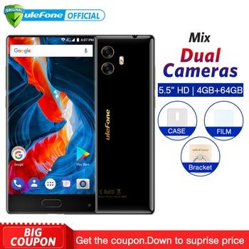 Ulefone MIX 4G Mobile Phone 5.5 inch MTK6750T Octa Core Android 7.0 4GB RAM 64GB ROM Fingerprint 13MP Dual Camera Smartphone