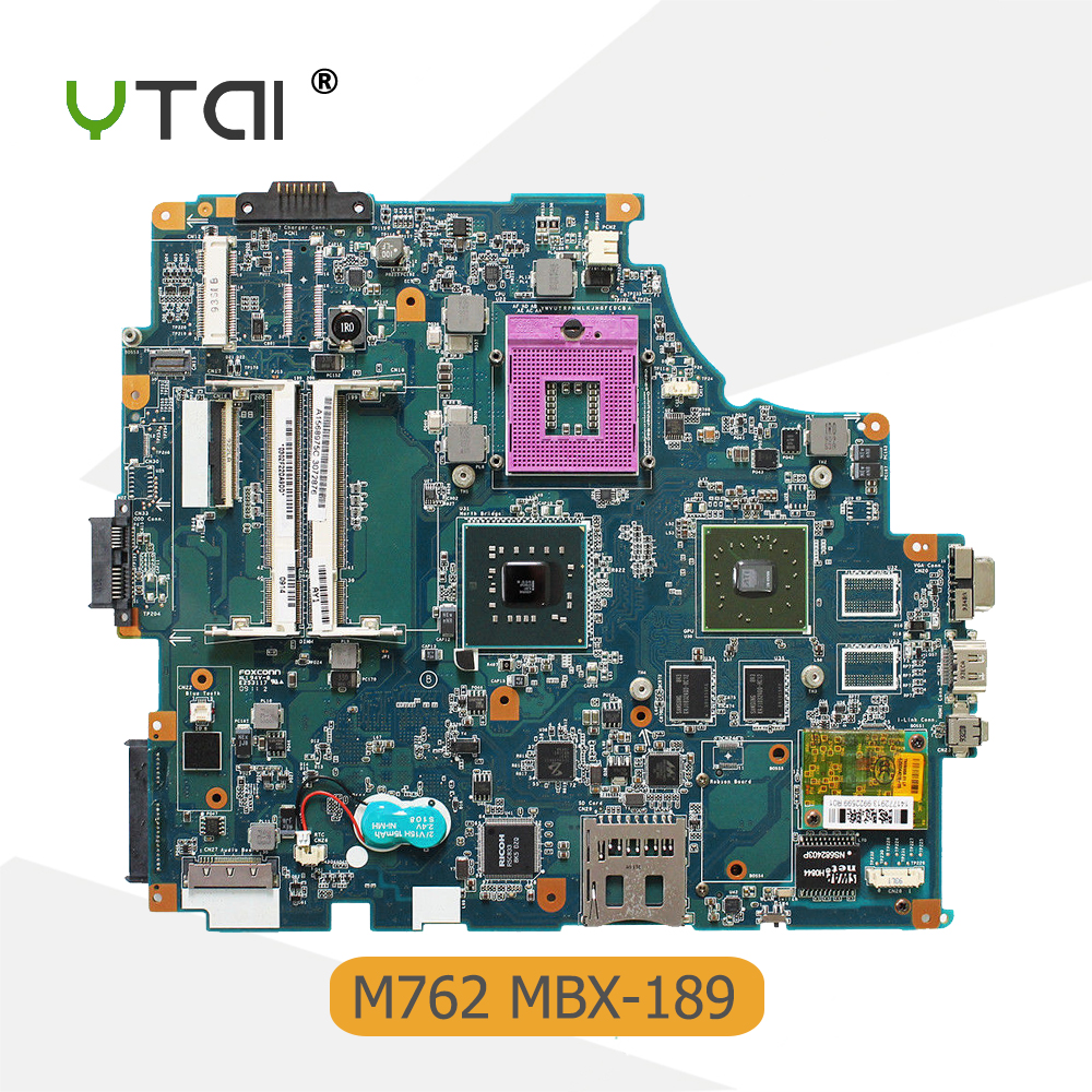 YTAI A1568975C For Sony VAIO M762 MBX-189 Laptop Motherboard A1568975C 1P-0089J01-8010 PM45 DDR3 REV1.0 Mainboard Fully Tested