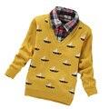 Bebé de punto suéter 2017 Otoño Primavera ropa de niños suéter para niños ropa niños traje infantil