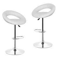 JEOBEST 2pcs Synthetic Adjustable Swivel Bar Stools Kitchen Home Bar Furniture Chair Stool DE FR in Stock HWC
