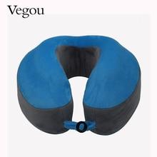 Vegou Cervical Almohada Suave Almohada de Espuma de Memoria en Forma de U Cuello Almohada de Viaje Reposacabezas Masaje Para Oficina Moda Avión de Vuelo