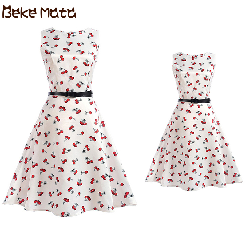 Mom Daughter Attire Mommy And Me Garments Sleeve Flower Print Household Look Mother Daughter Princess Gown Household Matching Outfit Matching Household Outfits, Low cost Matching Household Outfits, Mom Daughter...