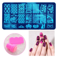 Nail Art Image Stamp Stamping Plates Manicure Set for DIY Stamper Scraper Nail Stamp Kit Nail Art Stamping Set