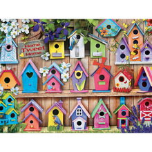 New Arrival Diamond Embroidery Birds House Diy  Paintings Full Mosaic Picture Pattern Cross Stitch Rhinestone BK-4711