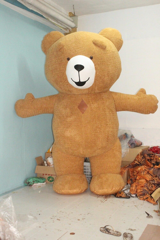 Новейший плюшевый медведь талисман надувной костюм для рекламы м 2,6 м высокий настроить для взрослых подходит м для 1,9 м до 1,6 м взрослых