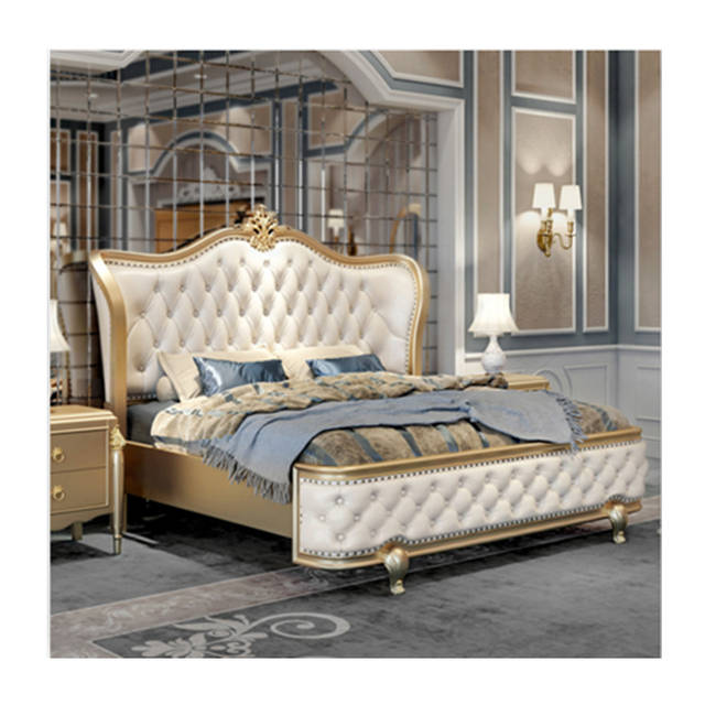 US $2466.0 |luxury italian bedroom furniture set king size classic italian  latest gold wooden bed designs furniture set luxury italian bed-in Beds ...