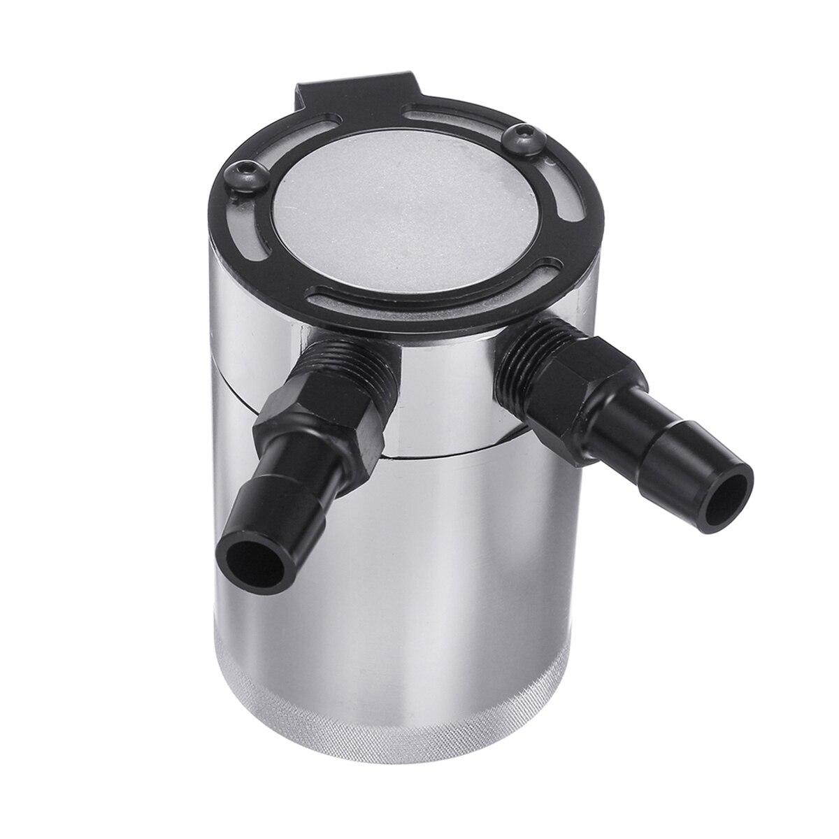 Auto Kompakte Verblüfft 2-Port Aluminium Öl Fangen Können Reservoir Tank Öl Fangen Können Kraftstoff Tank Teile Zwei loch atmungsaktive Wasserkocher