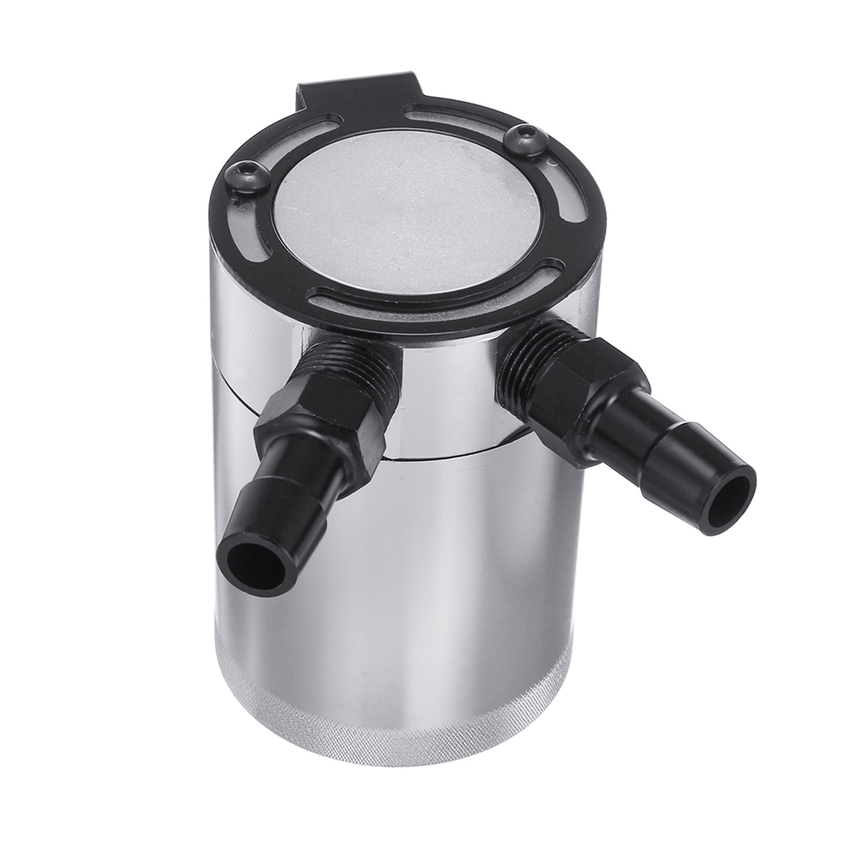 Car Compact Baffled 2-Port Aluminum Oil Catch Can Reservoir Tank Oil Catch Can Fuel Tank Parts Two hole breathable Kettle