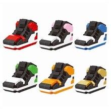 a397f0398 أحذية مصغرة الماس yBlocks الأسود اصبع القدم مشبك اللبنات DIY حذاء نموذج  مفاتيح خاتم مفتاح الاكسسوارات