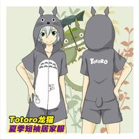 Anime Tonari no Totoro Cosplay pajamas Cos Halloween Party men&women Cotton short sleeve Cute pajamas