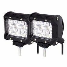 2pcs 5D Car LED Work Light Offroad Lights 18W 6500K Led Chips Flood&Spot Driving Lamp Sportlight for 12v 24v Vehicle SUV ATV