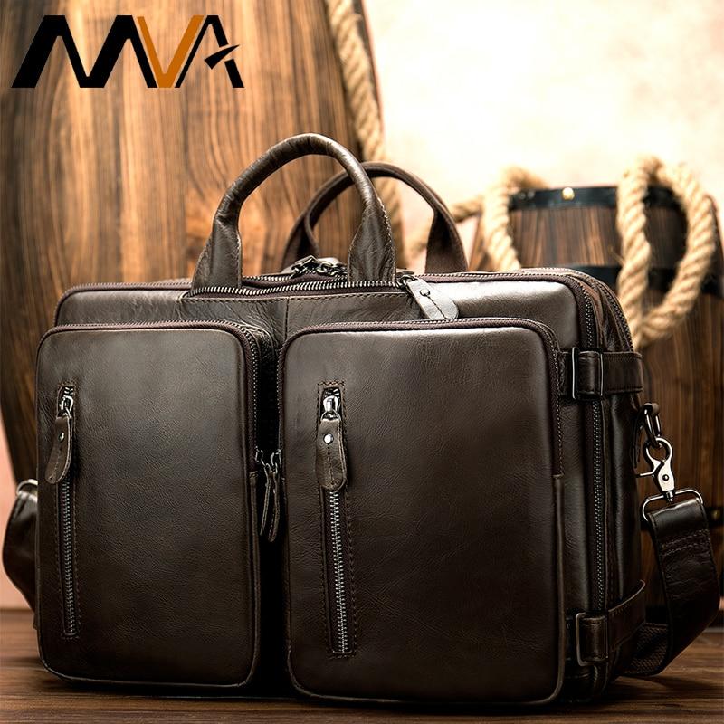 genuine leather men's briefcase bags business laptop bags for men messenger casual bag men's leather bag men business briefcases