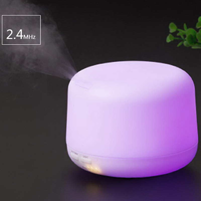 ФОТО 500ml LED Light Humidifier Essential Oil Aroma Diffuser Ultrasonic Air Humidifier Mist Maker for Home& Bedroom WA018 T16 0.4