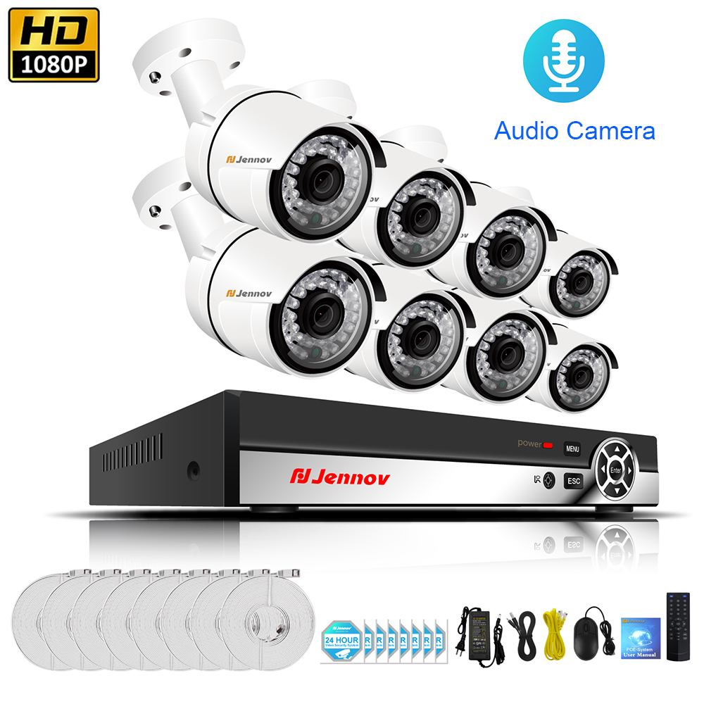 8CH 1080P HDMI NVR POE CCTV System 2.0MP Waterproof Indoor Outdoor IP Camera P2P Video POE Surveillance Kit System HD ip camera poe nvr kit 8ch cctv system 1080p hdmi poe nvr 8x2 4mp ir mini camera p2p poe power over ethernet cctv security camera kit