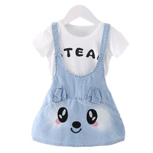 2019 new summer baby girl clothes set cotton shirt gilr denim overall skirt body suit kids clothing sets costume for girls цена