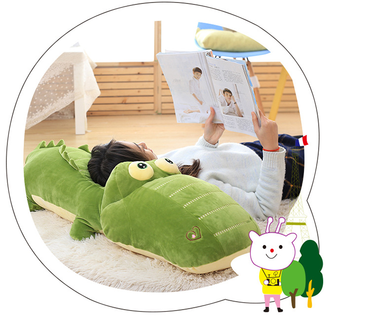 big lovely plush crocodile toy stuffed green crocodile doll gift about 130cm big lovely simulation cow plush toy creative stuffed cow doll birthday gift about 75cm