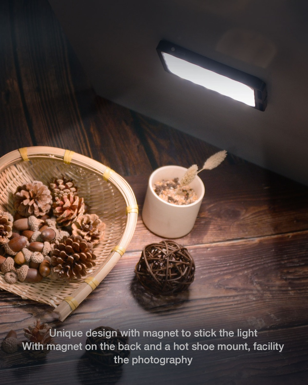 Image 4 - Moman Mini 4.5 Inch On Camera LED Video Light with Magnetic Back Bi Color 3000K 6500K CRI96+ Filming Lighting-in Photographic Lighting from Consumer Electronics