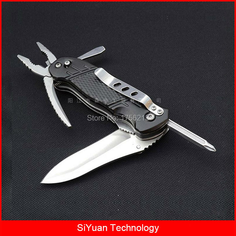 цена на Multifunctional EDC Folding Pocket Knife Multi Purpose Plier Kit with Bottle Opener Screwdriver for Camping and Survival