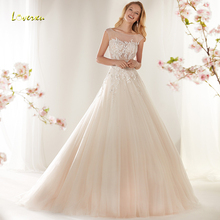 Loverxu Wedding Dress Cap Sleeve Backless Bride Dress