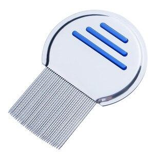Image 2 - ステンレス鋼子供ターミネーターシラミ櫛 Nit 取り除く Headlice 超高密度歯削除ペット櫛スタイリングツール