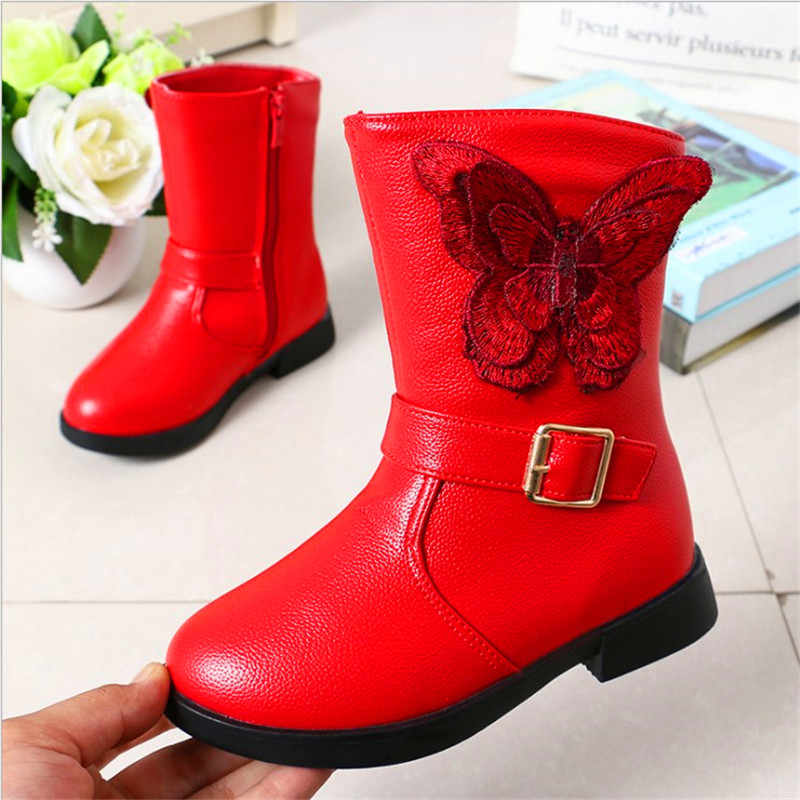 2019 Winter Fashion New Child Girls Snow Boots Shoes Warm Plush Soft Bottom Baby Girls Boots Comfy Kids Leather Winter Snow Boot