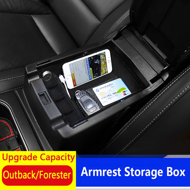 Car Styling Center Console Armrest Storage Box Tray Container Car Organizer Accessories For Subaru Forester Legacy Outback XV