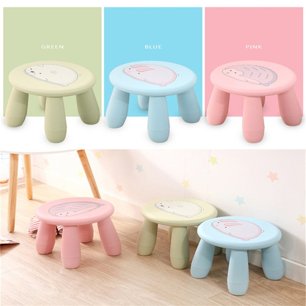 Creative Cute Stools Children Chair Portable Plastic Stool Chair Bench Detachable Stool for Home Outdoor Travel Furiniture plastic stool home children stool for shoes stool cute thick cartoon baby bench