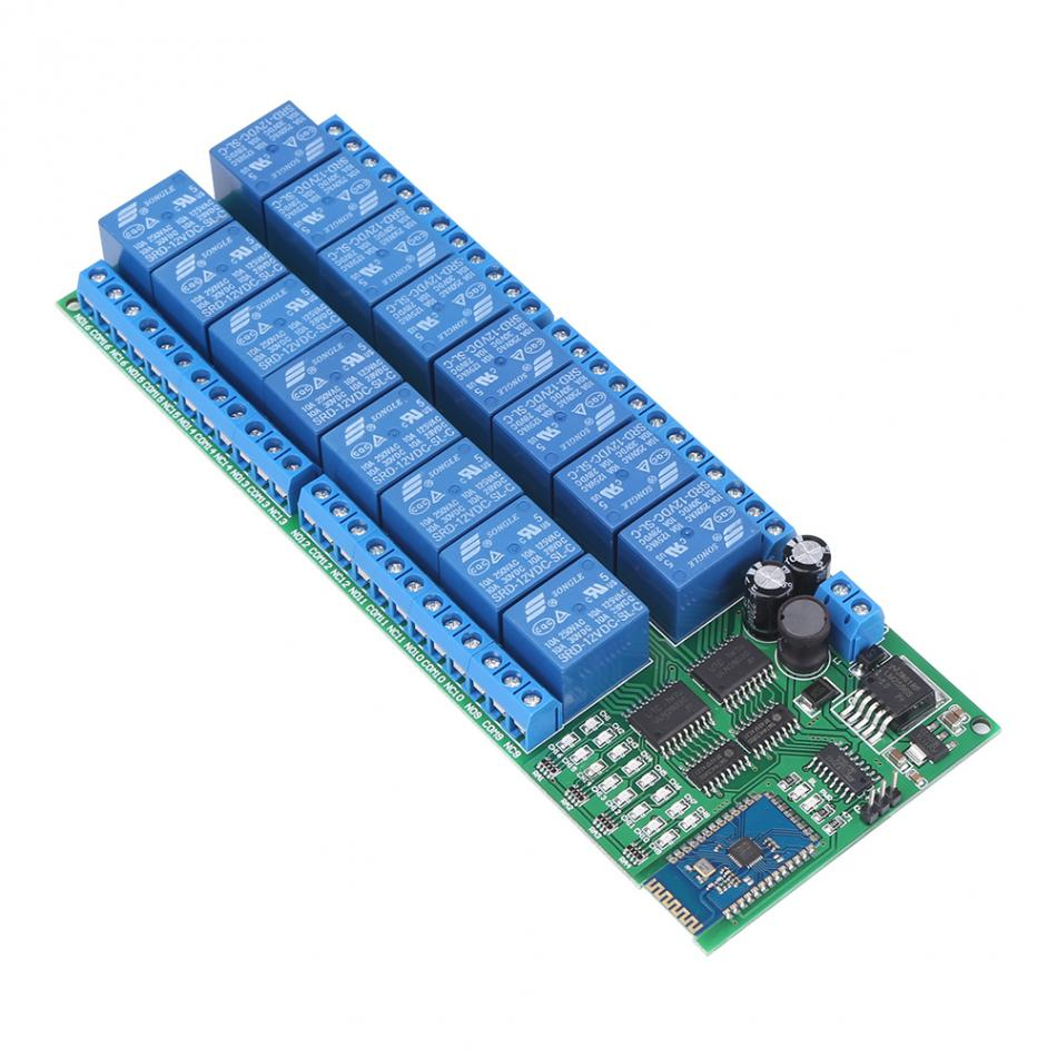 DC 12V 16 Channel Bluetooth Relay Board Wireless Remote Control Switch 16 Channel Bluetooth Relay Module electronic transistor relay 16 channel dc amplifier circuit board