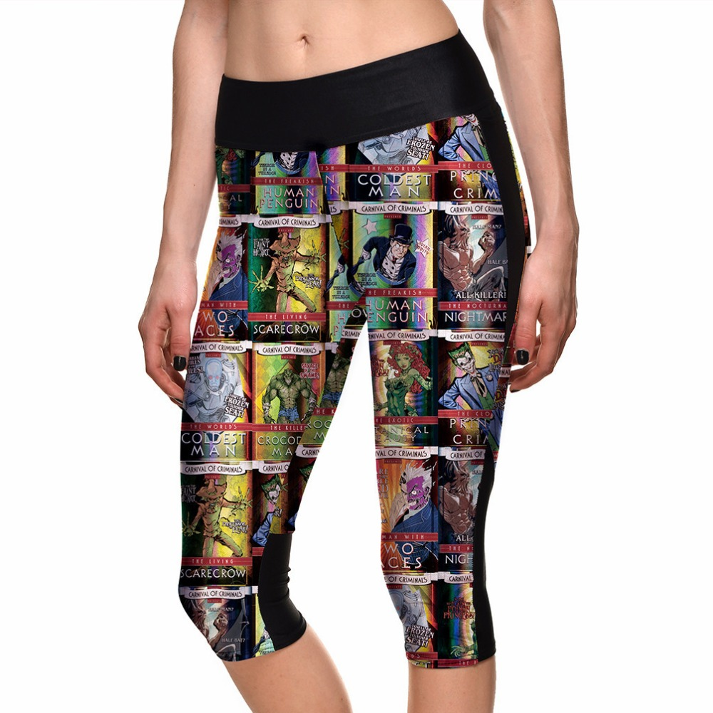 b17b10a772 S 4XL2015 Women's 7point pants women legging Magic Superman Comics Posters  digital print women high waist Side pocket phone pant-in Leggings from  Women's ...