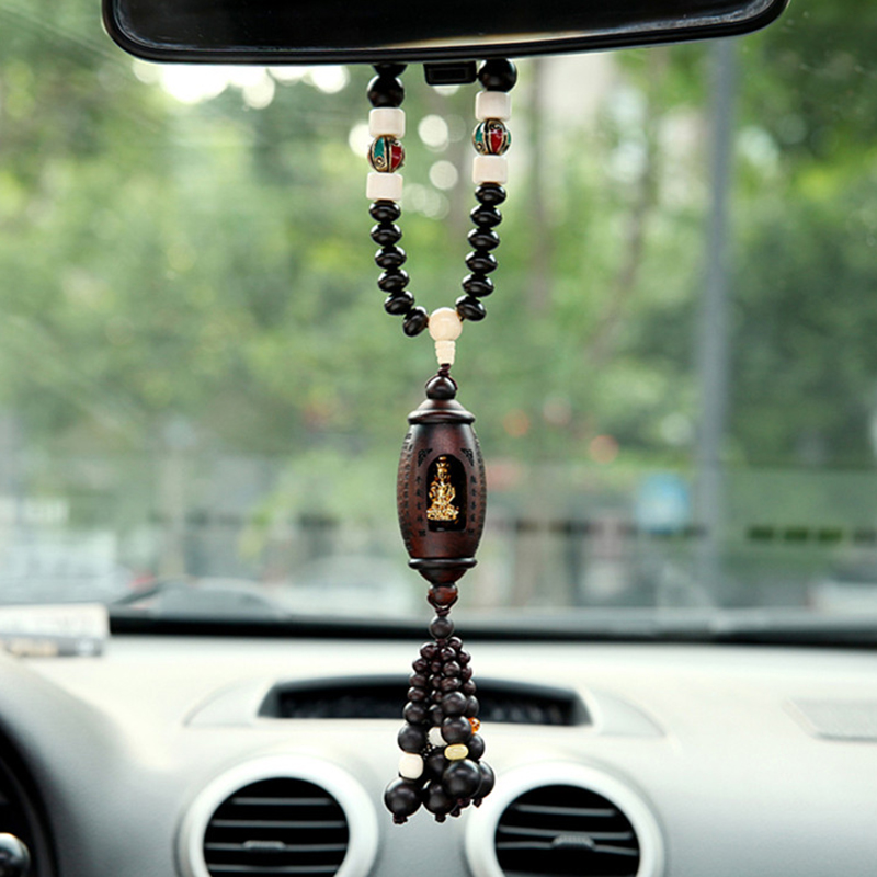Car Pendant Maitreya Buddha Decoration Hanging Ornaments Buddhist Automobiles Rearview Mirror Dangle Suspension Accessories car pendant lucky cat car rearview mirror decoration ceramics alloy hanging ornament automobile dashboard accessories gift 60cm