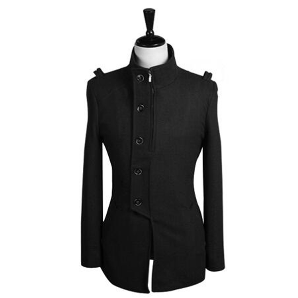 2017 Fashion Autumn Winter Mens Trench Coat Single-breasted Personality Zipper Design Stylish Style Long Trench Coats