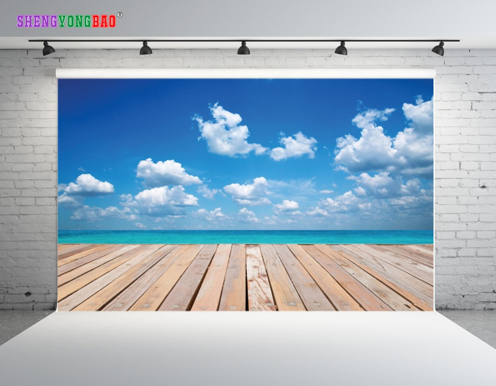 SHENGYONGBAO Art Cloth Digital Printed Photography Backdrops Wood planks theme Prop Photo Studio Background JUT 1648 in Background from Consumer Electronics