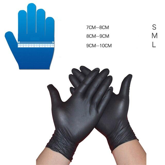 10/50Pcs Black Gloves Disposable Permanent Tattoo Gloves Tattoo Latex Gloves Tattoo Accessories S M L 4