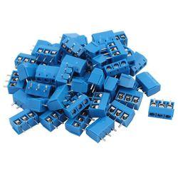 100 szt. Niebieski ABS KF301-3P 5.08mm 3 pinowe złącze śrubowe złącze stykowe