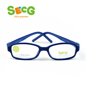 Image 2 - SECG TR90 Ultralight Soft Flexible Safety Kids Children Frame Lunettes De Vue Enfan Myopia Frame Boys Girls Unisex Rubber Band