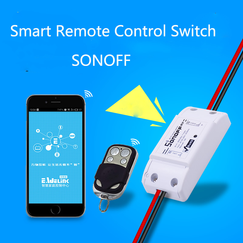 Sonoff RF DIY Switch,Intelligent WiFi Wireless Smart Home Automation Modules, 433mhz Remote Control Compatible with Android IOS