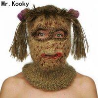 Mr.Kooky Crochet Kooky Mask Beanies Men's Women's Hats Funny Halloween Handmade Knitted Balaclava Birthday Xmas Gag Party Gifts