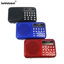Altavoz de Radio Estéreo LED, portátil, con soporte USB, tarjeta TF, reproductor de música MP3, Mini altavoz magnético, T508