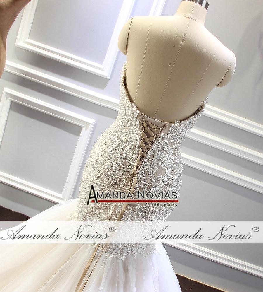 4050be2eee 2018 vestido de novia de champán sirena con cuentas brillantes vestido de novia  tamaño de pedido personalizado en Vestidos de novia de Bodas y eventos en  ...