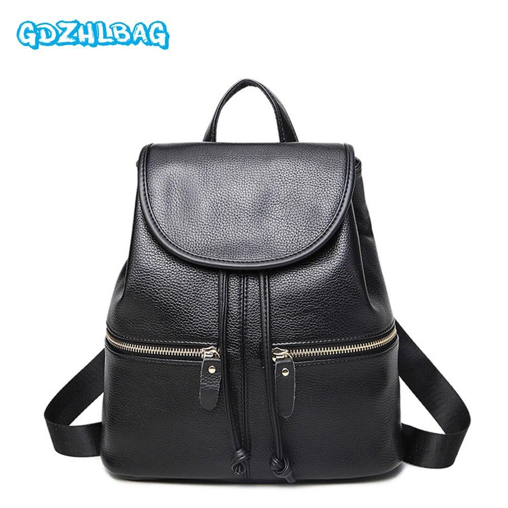 Women Mini Backpack Small Black Leather Womens Backpacks Fashion School Girls Bags Female Back Pack Famous Brand mochilas B160