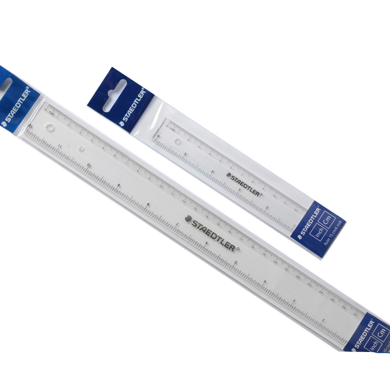 STAEDTLER Plastic Transparent Ruler 15cm/30cm Length Ruler Student Straight Ruler Drawing Tools Stationary School Supplies Maths