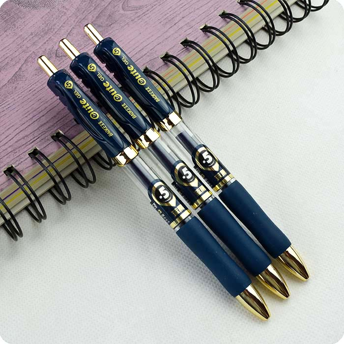 2pc Blue Black 0.5 Precision Bullets Don't Fade For Long European Standard Gel Ink Pens