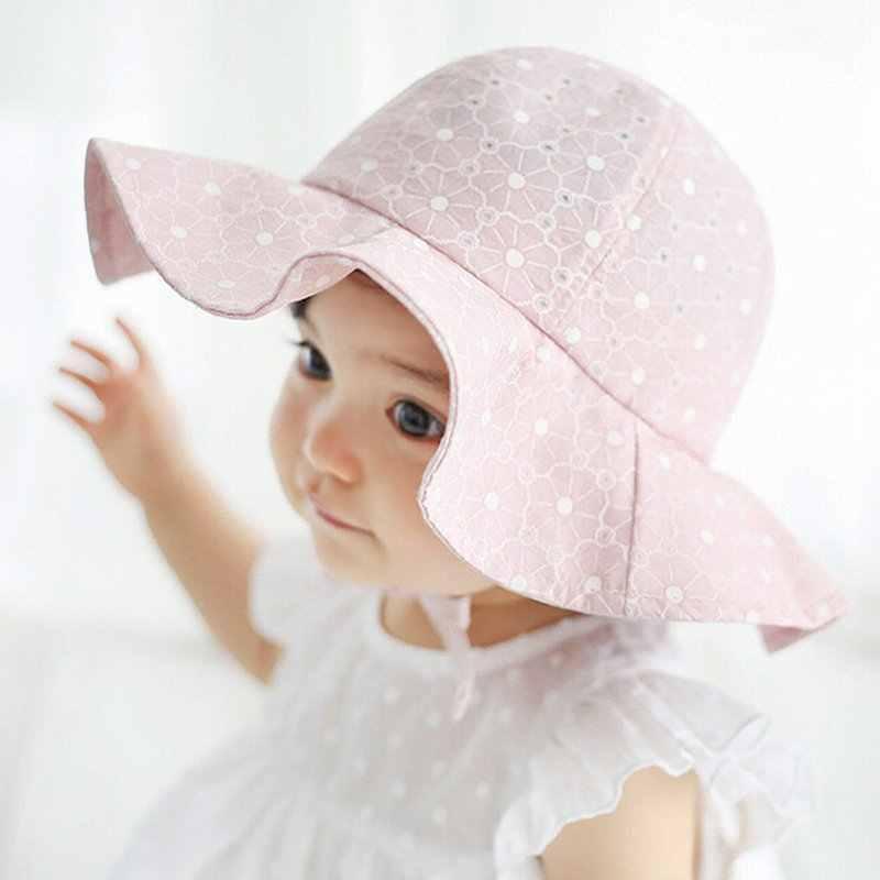 710fb7990e7 Summer Outdoor Baby Hat Cap Infant Baby Girl Sun Hat Cotton Children Kids  Baby Summer Hat