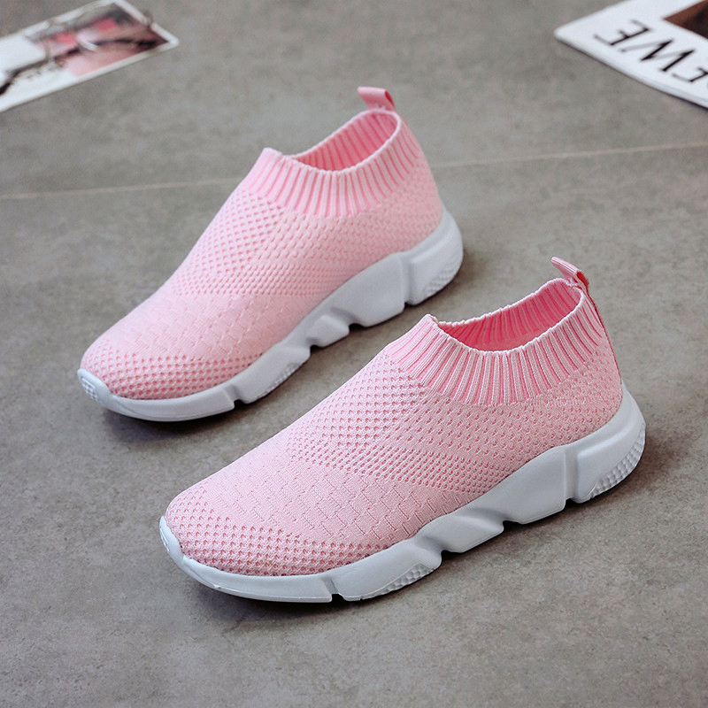 Women Sneakers Female One-legged Simple Shoes Casual Slip On Ladies Flat Shoe Mesh Trainers Soft Walking Footwear Zapatos Mujer Sports & Entertainment Running Shoes